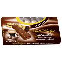 שוקולד מריר במילוי קרם בטעם אספרסו