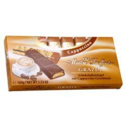 שוקולד חלב במילוי קרם בטעם קפוצ'ינו