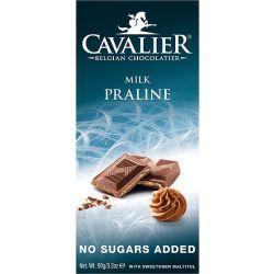 קואלייר שוקולד חלב עם קרם אגוזים ללא תוספת סוכר