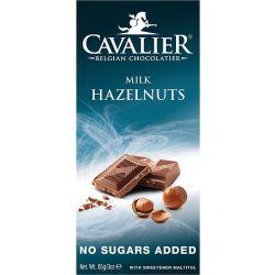 קואלייר שוקולד חלב עם אגוזים ללא תוספת סוכר