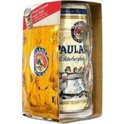 בירה פאולנר ליטר + כוס