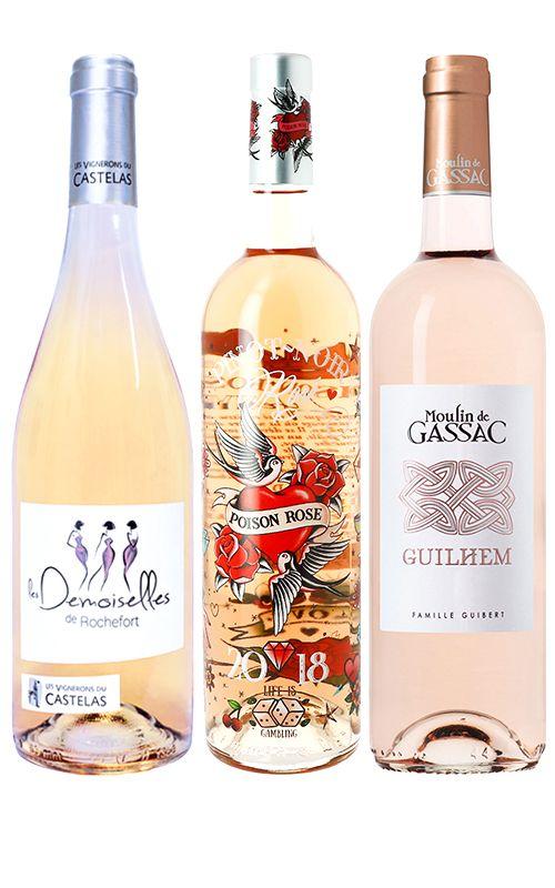 סט של יינות רוזה מדרום צרפת